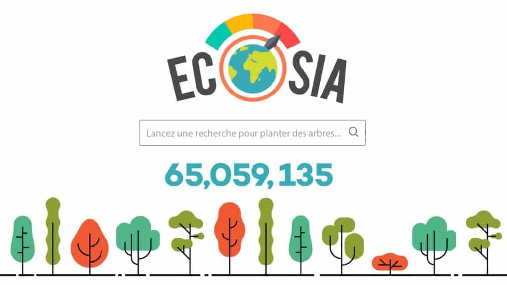 Image écosia moteur de recherche écologique
